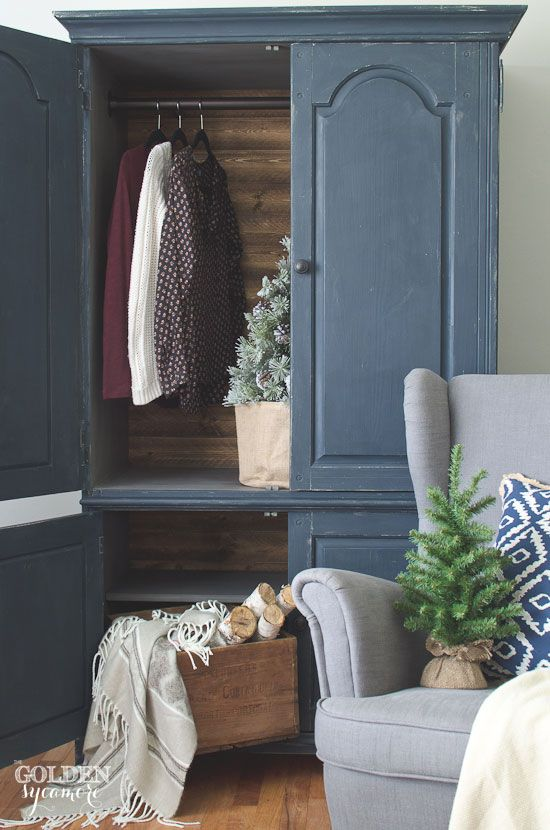 Beautiful, Rustic Armoire Makeover From An Old Tv Cabinet. This Piece Is  Perfect For
