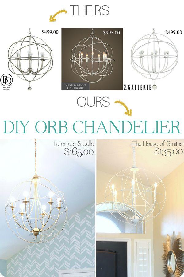 Diy orb chandelier tutorial zgallerie light knock off diy orb chandelier tutorial zgallerie light knock off houseofsmiths this tutorial aloadofball Gallery