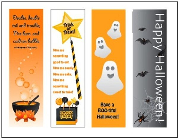 halloween bookmarks printable for kids free - Halloween Bookmarks To Color