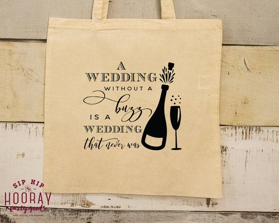 Wedding Tote Wedding Buzz Custom Favor Totes Welcome Bag Event Bag Custom Tote Bag Favor Bags Event Totes Bags Weddings 1607 by SipHipHooray