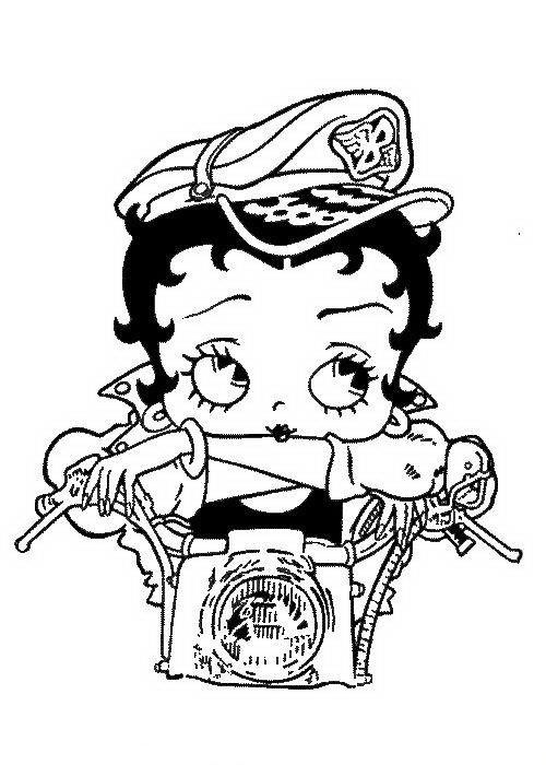 Desenhos para pintar Betty Boop 16 | Betty Boop Biker | Pinterest ...