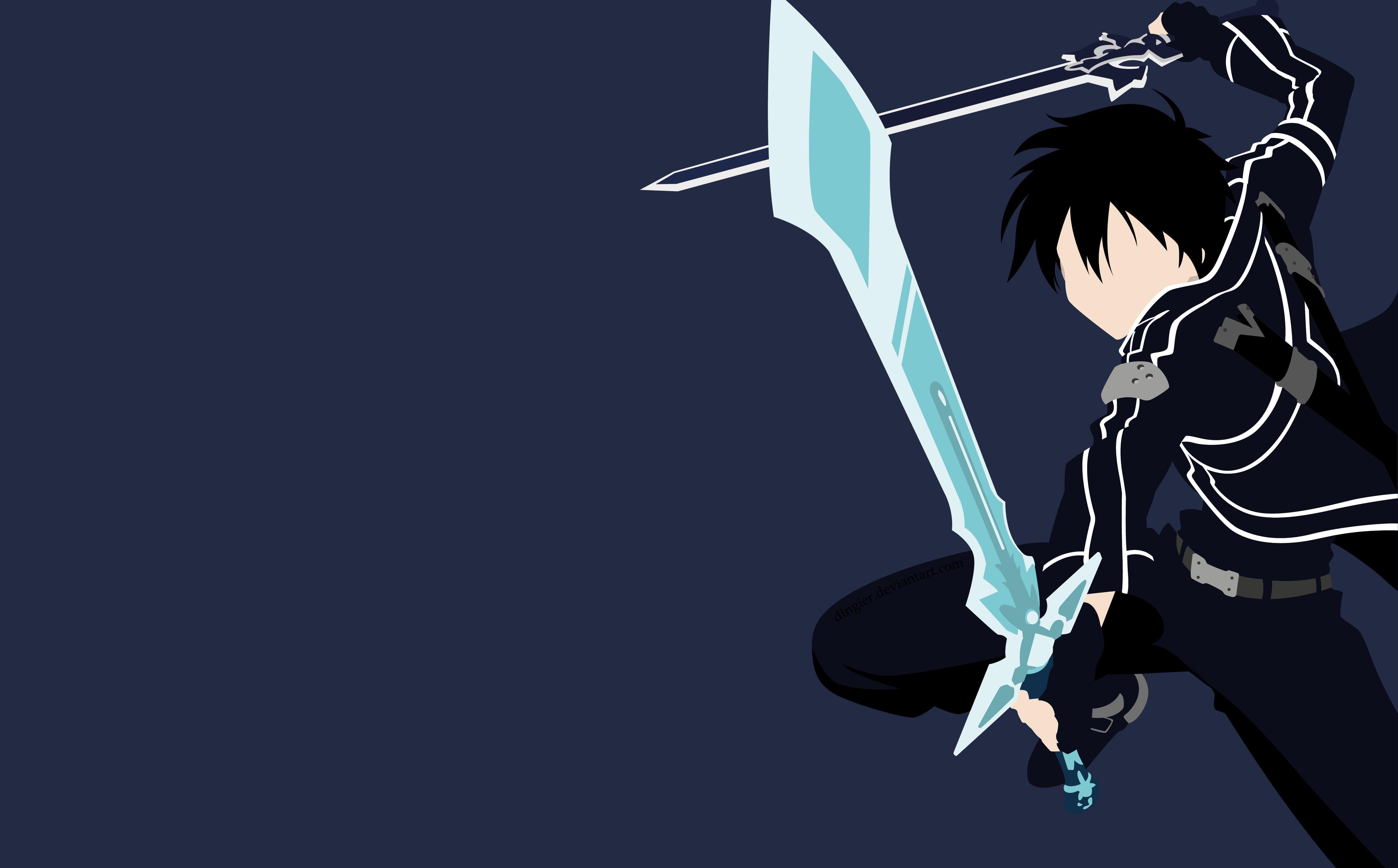 Sword Art Online Kazuto Kirigaya Kirito Sword Art Online 4k