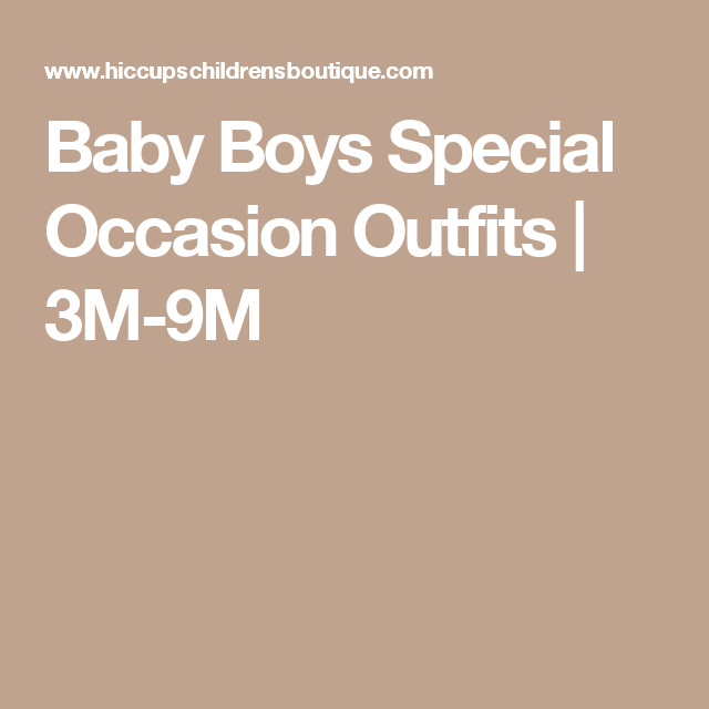 Baby Boys Special Occasion Outfits | 3M-9M