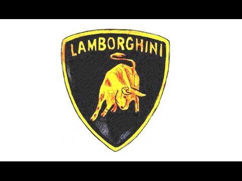 How To Draw The Lamborghini Logo Symbol Lamborghini Logo