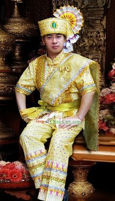 Traditional Thai Men 39 S Clothing Purple Google Search