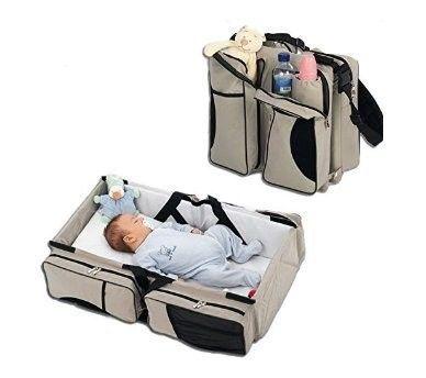 Holleyweb 3 in 1 Baby Diaper Bag Multi-function as Travel Bassinet ...