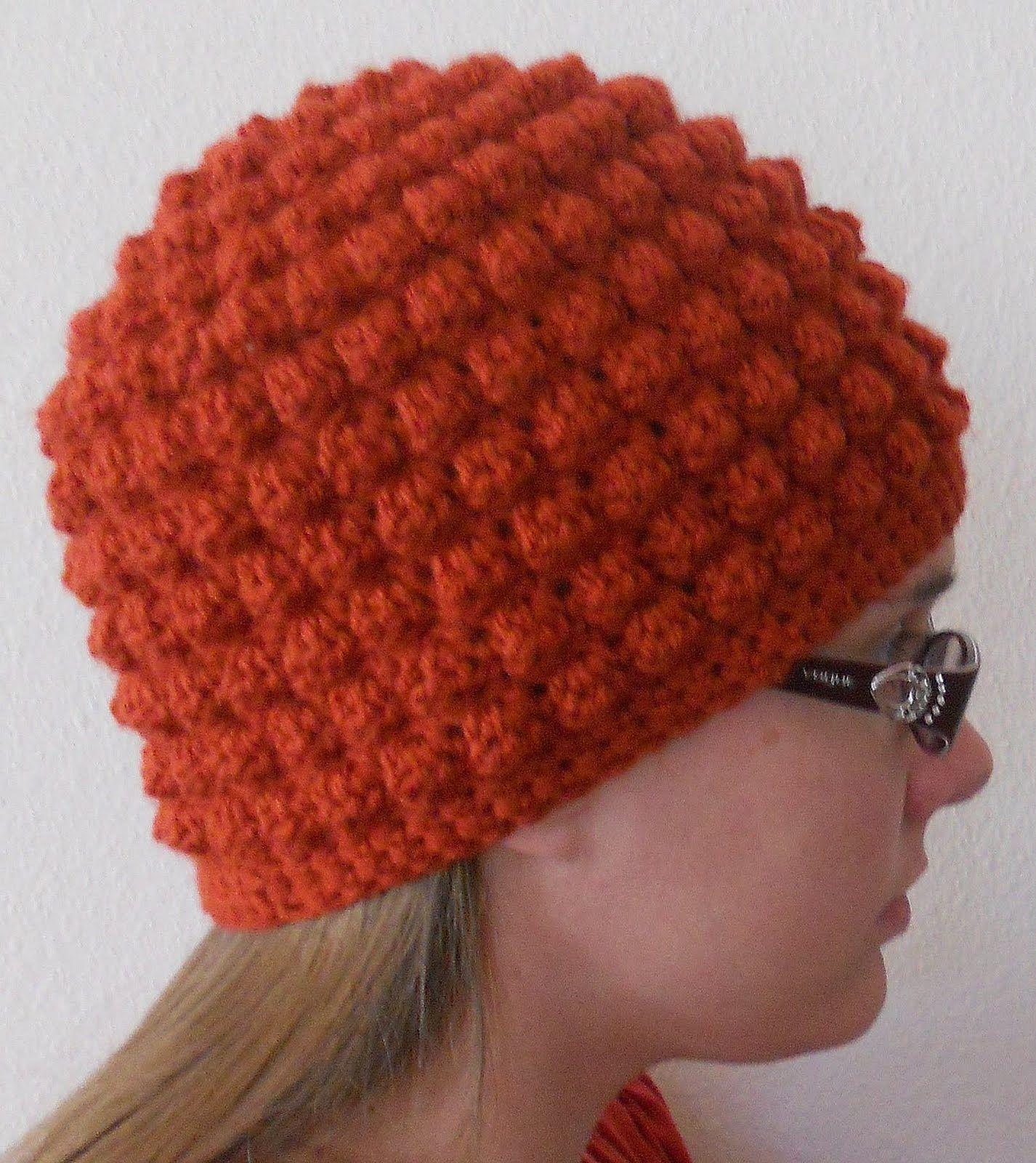 Gorro, para adultos, en punto garbanzo a crochet. | DIY Crochet ...