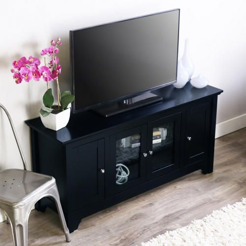 Kelly 52 Black Tv Stand Art Van Furniture