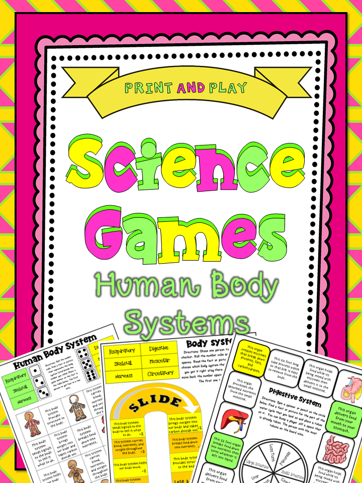 5th Grade Science Games: Human Body Systems   Human body ...