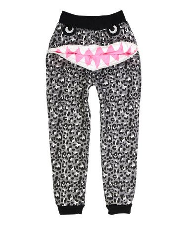 Another great find on #zulily! Gray Abstract Monster Zip-Back Sweatpants - Toddler & Girls #zulilyfinds