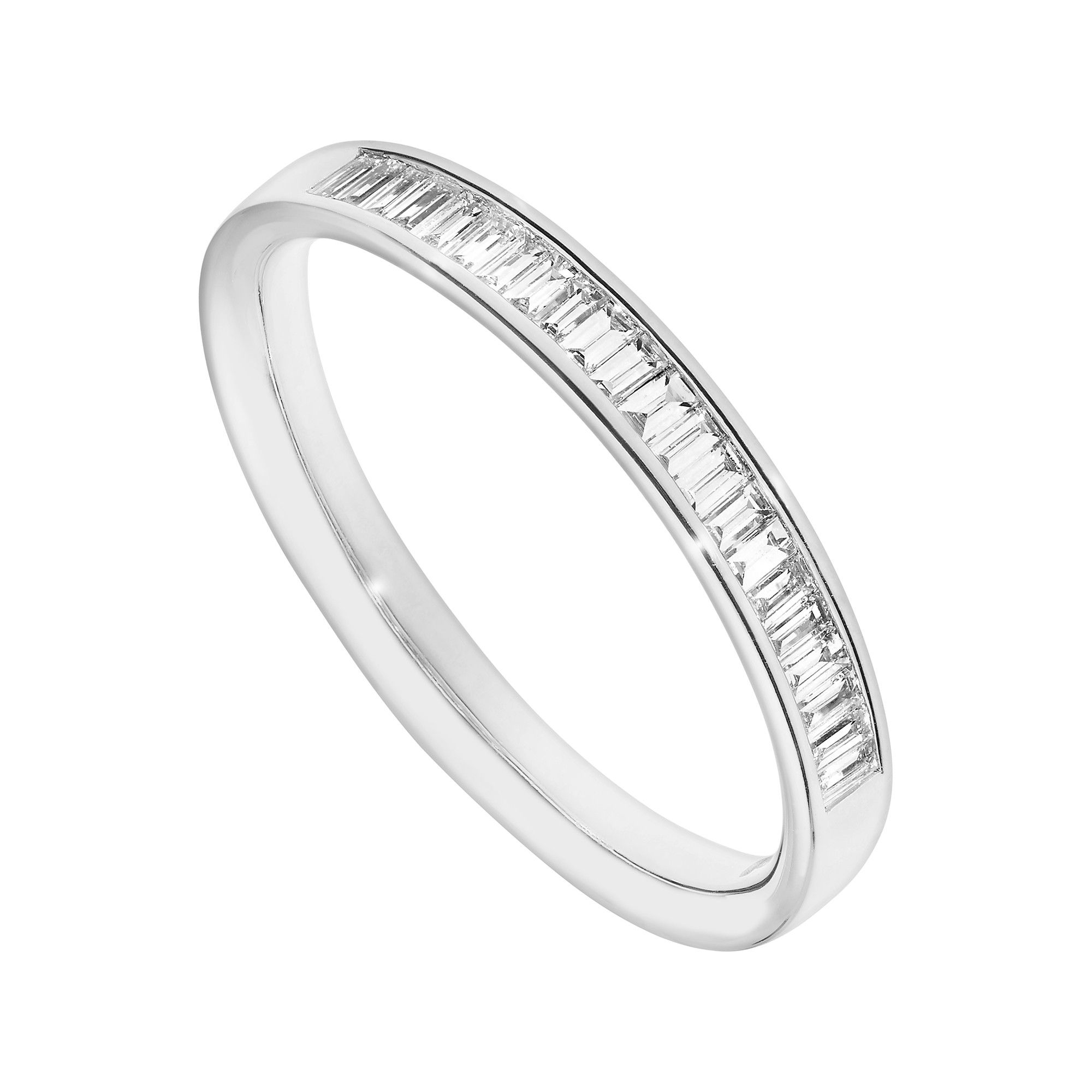 Platinum 020 Baguette Diamond Ring