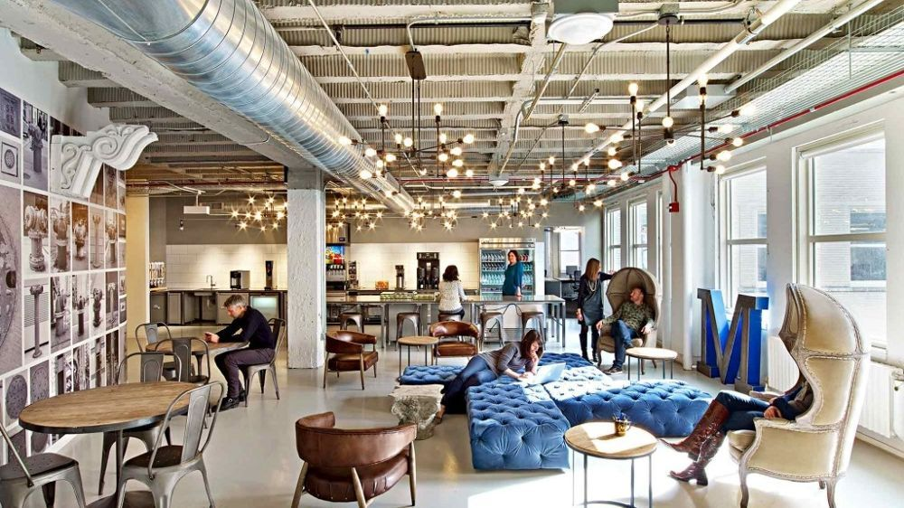 One of the many chill spots motorola mobility chicago - Commercial interior design chicago ...