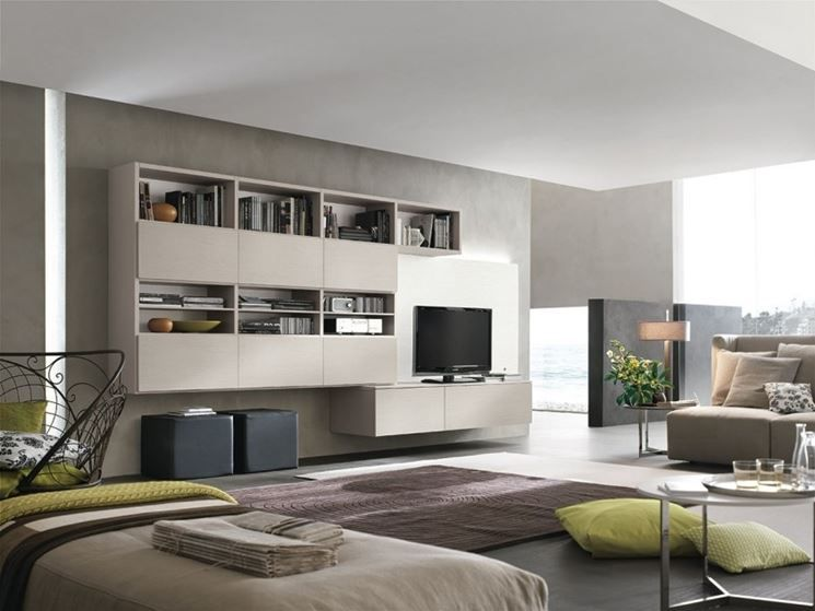 mobili soggiorno sospesi moderni - Cerca con Google | archivio ...