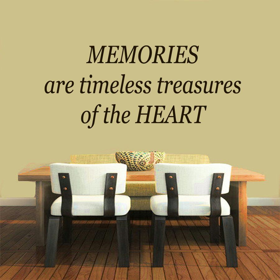 Wall Decals Memories Are Timeless ... Quote Vinyl Sticker Mural Wall ...