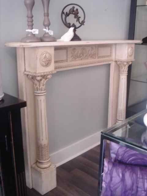 Diy shabby chic fireplace mantle shabby chic in - Manteles shabby chic ...