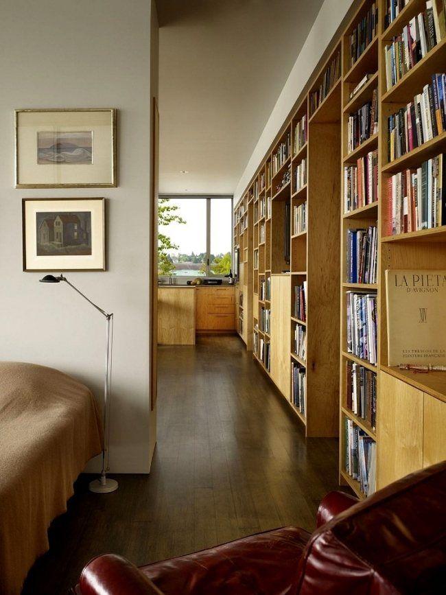 helles naturholz ideen modernes haus bibliothek | shelves
