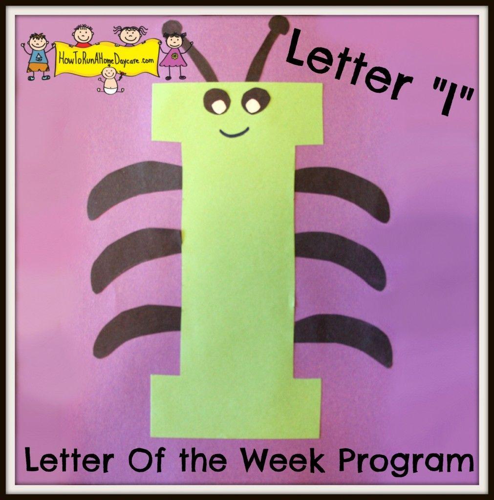 letter of the week craft letter i letter of the week program