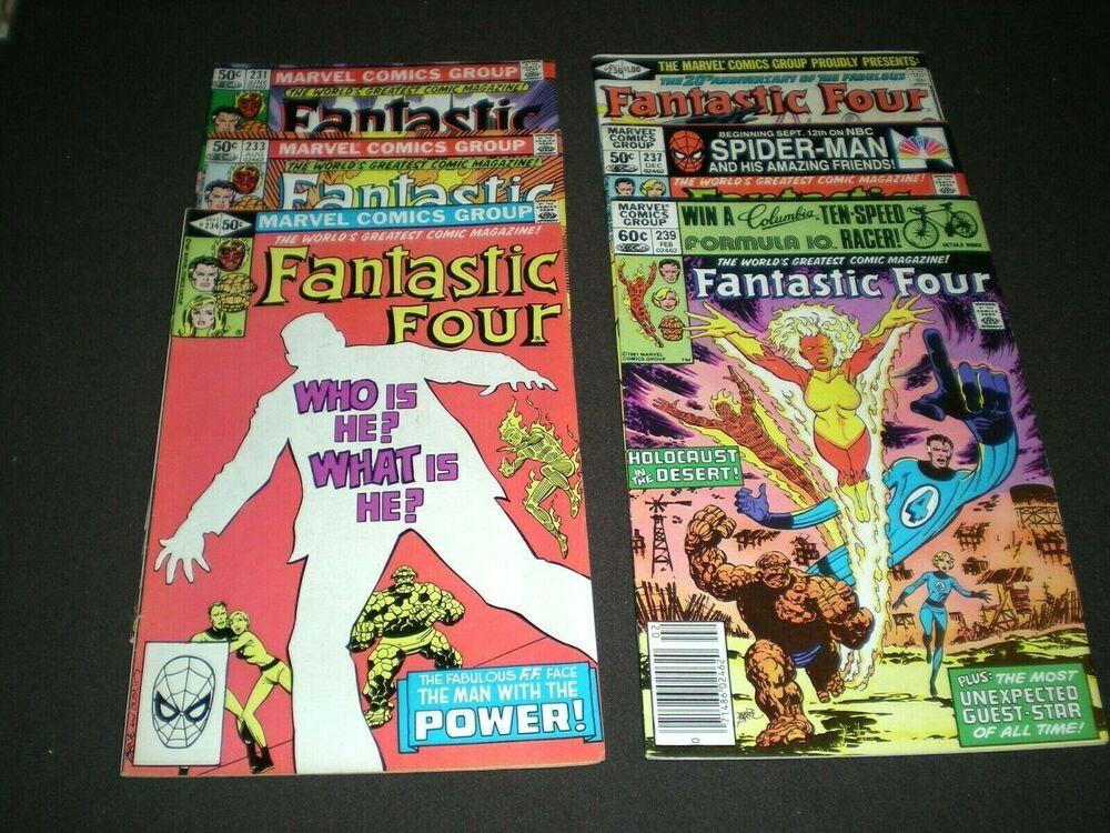 Fantastic Four 229 230 231 233 234 236 237 239 1981 82 Marvel Df1 Ebay Fantastic Four Marvel Marvel Comics
