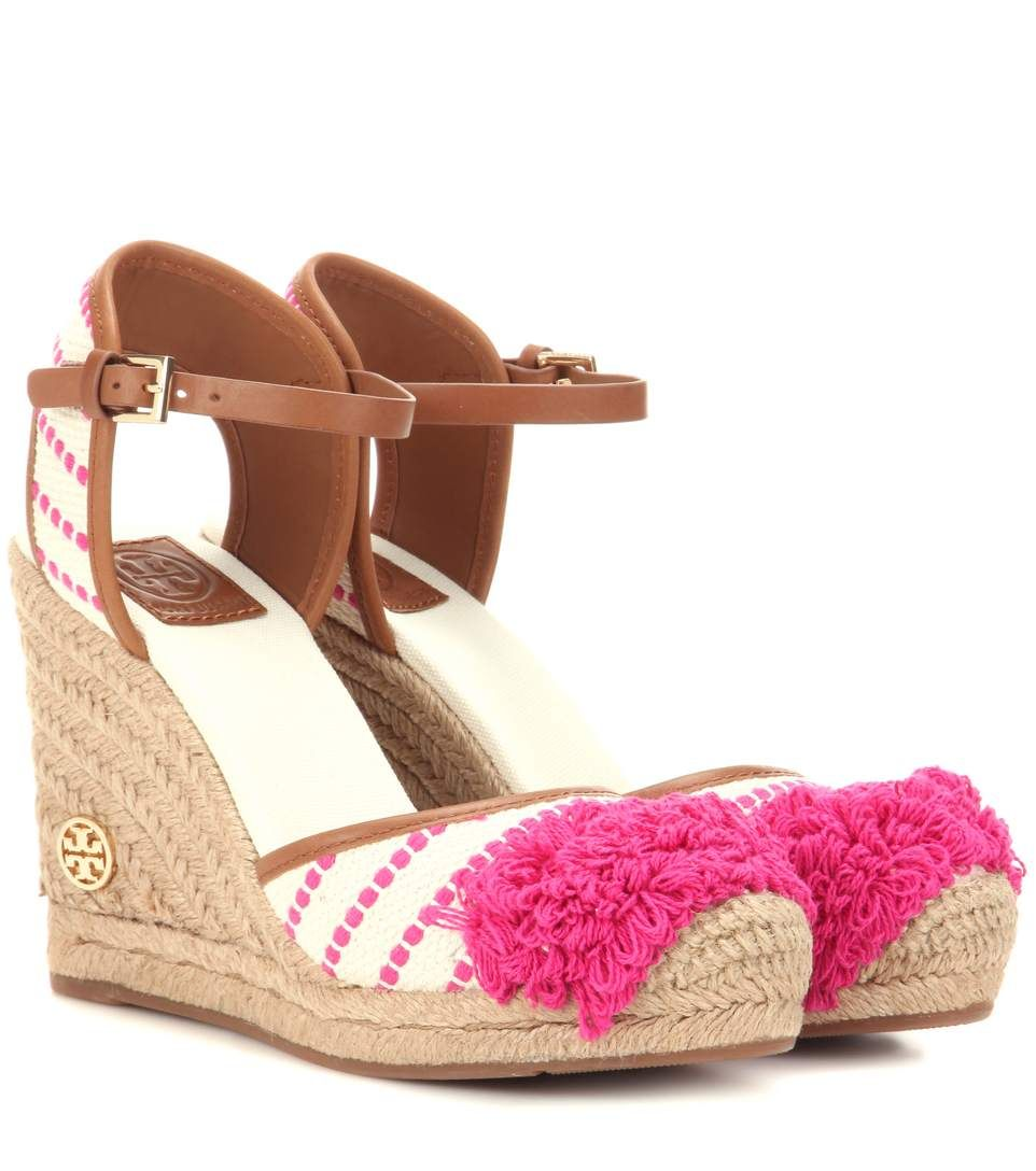 e4e4629495f TORY BURCH Shaw 90 wedge espadrilles.  toryburch  shoes  flats ...