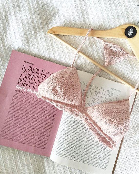 Crochet Bra crochet bikini top crochet bathing by RobotyReczne