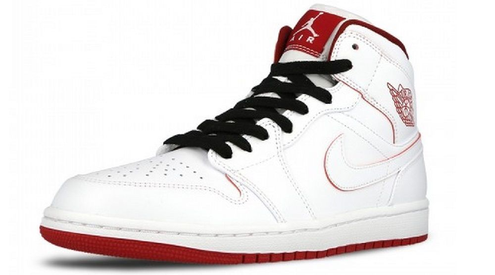 save off 86ec8 b8d51 Nike Men s Air Jordan 1 MID Basketball Shoes 554724 103 White Gym Red Black   NikeJordan  BasketballShoes