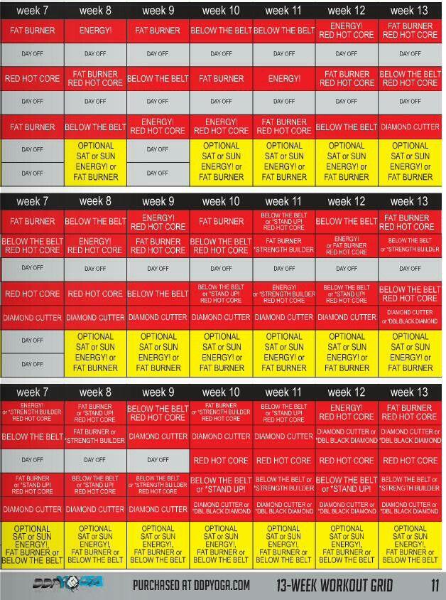 Ddp Yoga Beginner Schedule : beginner, schedule, Schedule, Yoga,, Health,, Workout