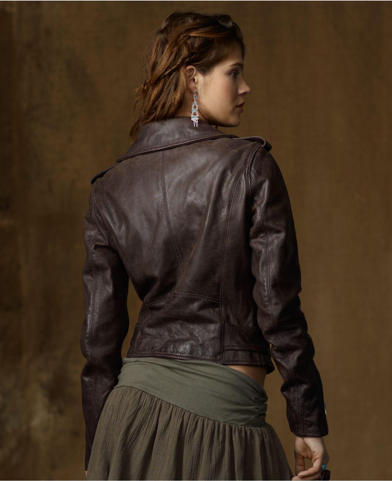 Denim & Supply Ralph Lauren Jacket, Leather Motorcycle