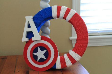 Diy Captain America Wreath Cumpleanos