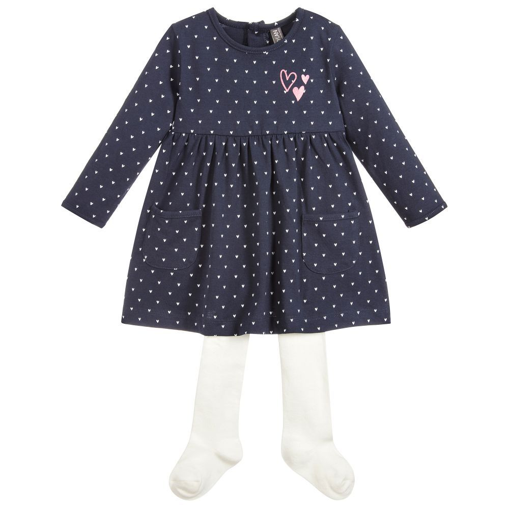 55ef268f9bce5 2 Piece Cotton Baby Dress Set for Girl by Losan. Discover more beautiful  designer Dresses for kids online