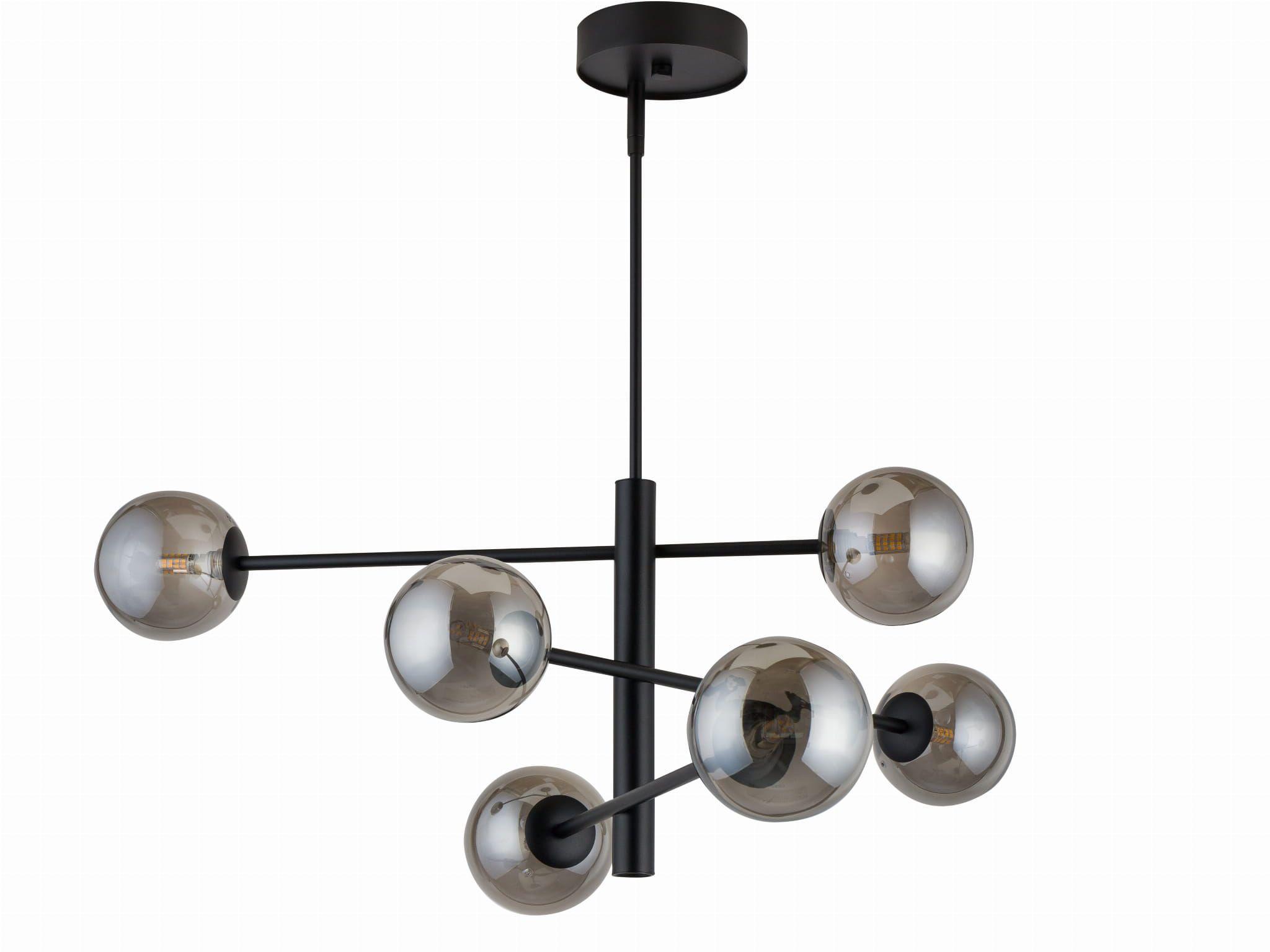 Lampa Sufitowa Oro 6x25w Dymione Kule Sigma 32072 Czarna Ceiling Lights Chandelier Office Supplies