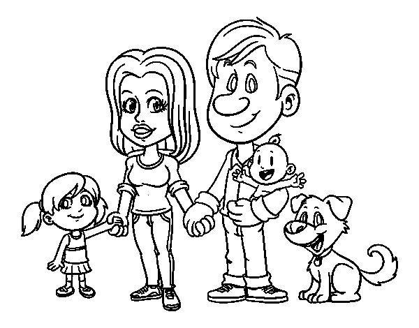 La Familia Dibujos Para Colorear