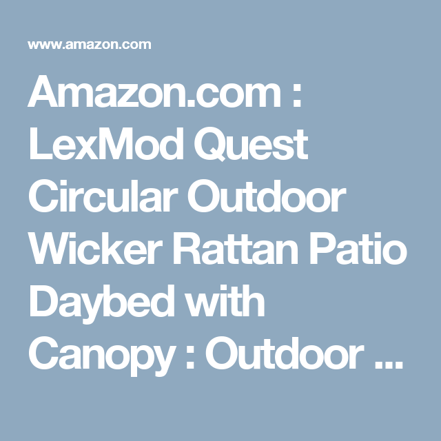 Amazon Com Lexmod Quest Circular Outdoor Wicker Rattan