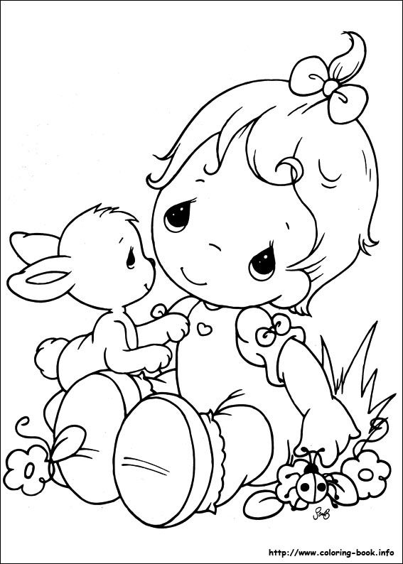 Girl Bunny Precious Moments Coloring Pages Baby Coloring Pages Coloring Pictures