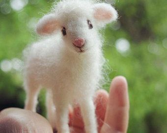 Needle Felted Lamb, Sheep, Poseable