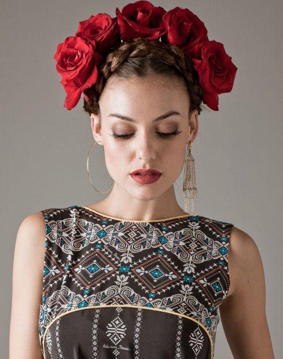 editorial frida kahlo latina essence pinterest mode boho femme fleur et joconde. Black Bedroom Furniture Sets. Home Design Ideas