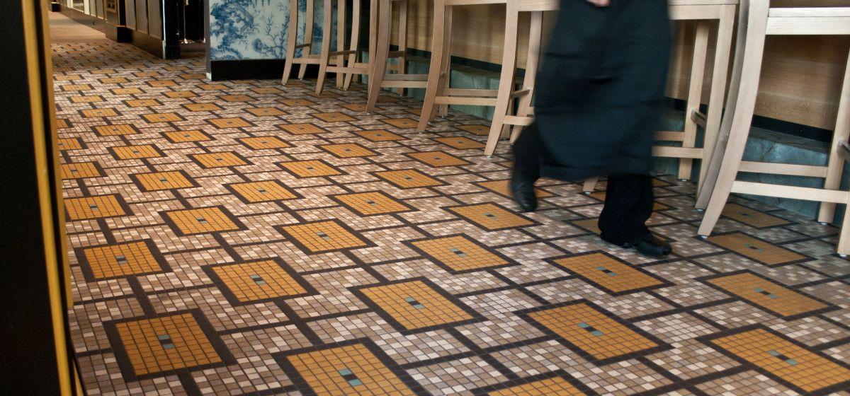 Empire Restaurant Floor Porcelain Tile Pattern Custom Mosaic