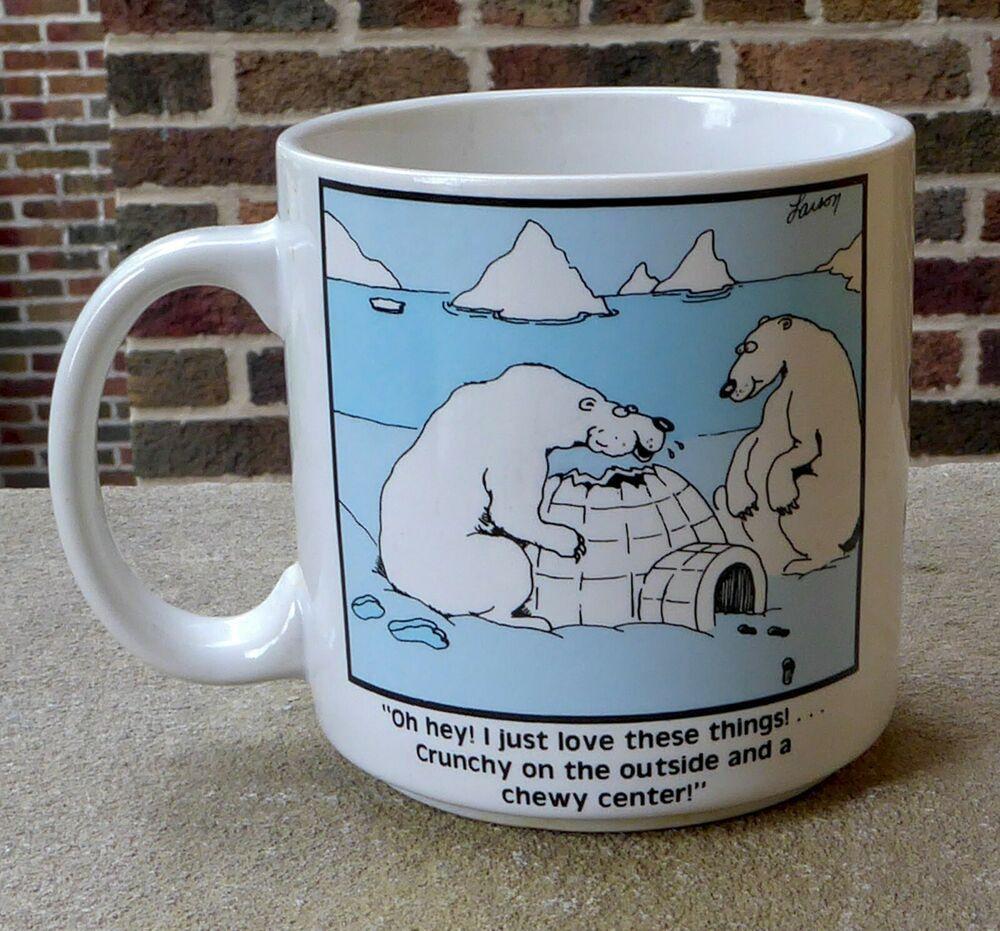 Vintage Polar Bear Crunchy Chewy Igloo Larson The Far Side Comic Coffee Mug Cup Ebay Mugs Coffee Mugs Far Side Comics [ 931 x 1000 Pixel ]