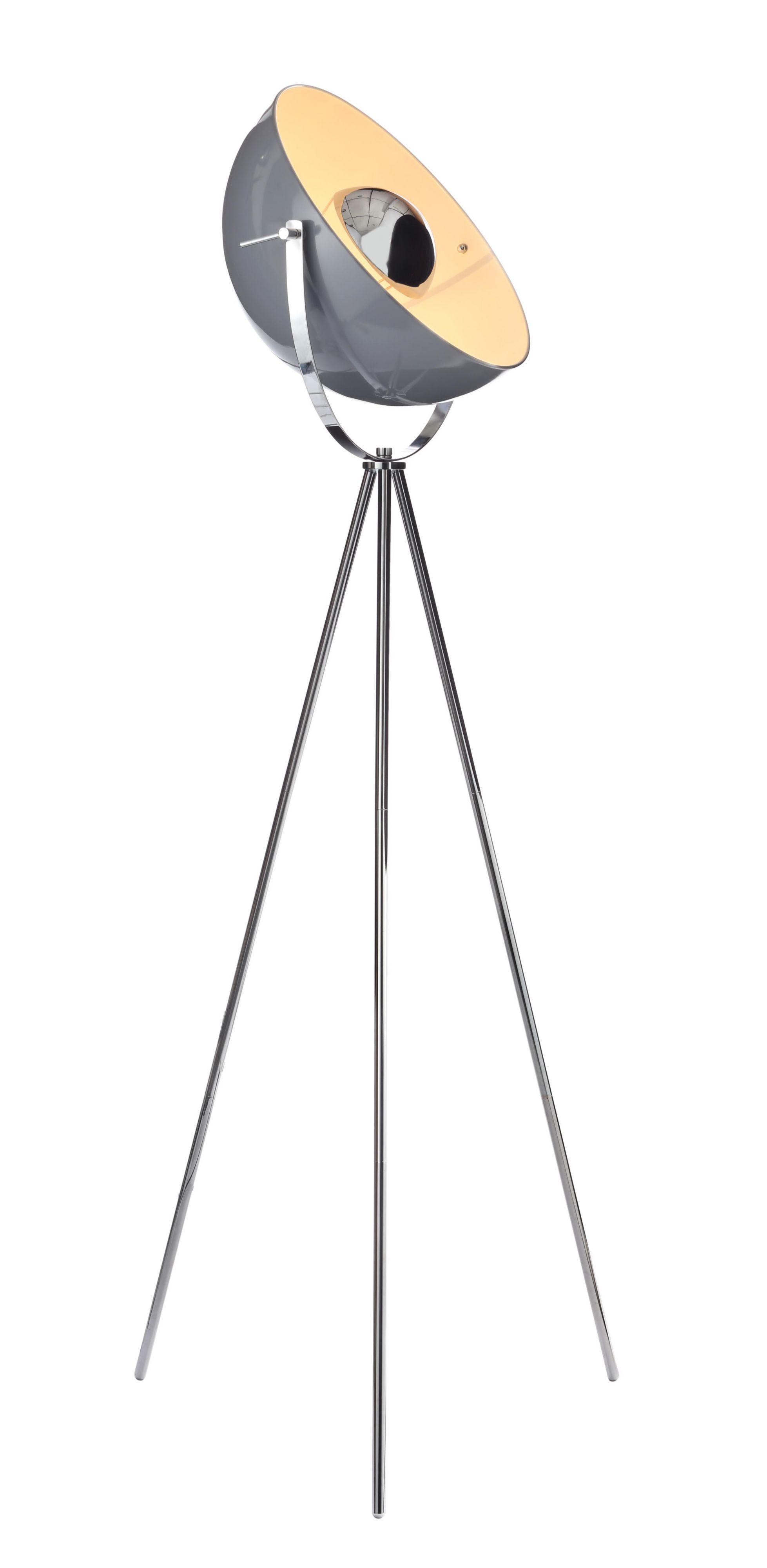 Alboran Tripod Chrome Effect Floor Lamp