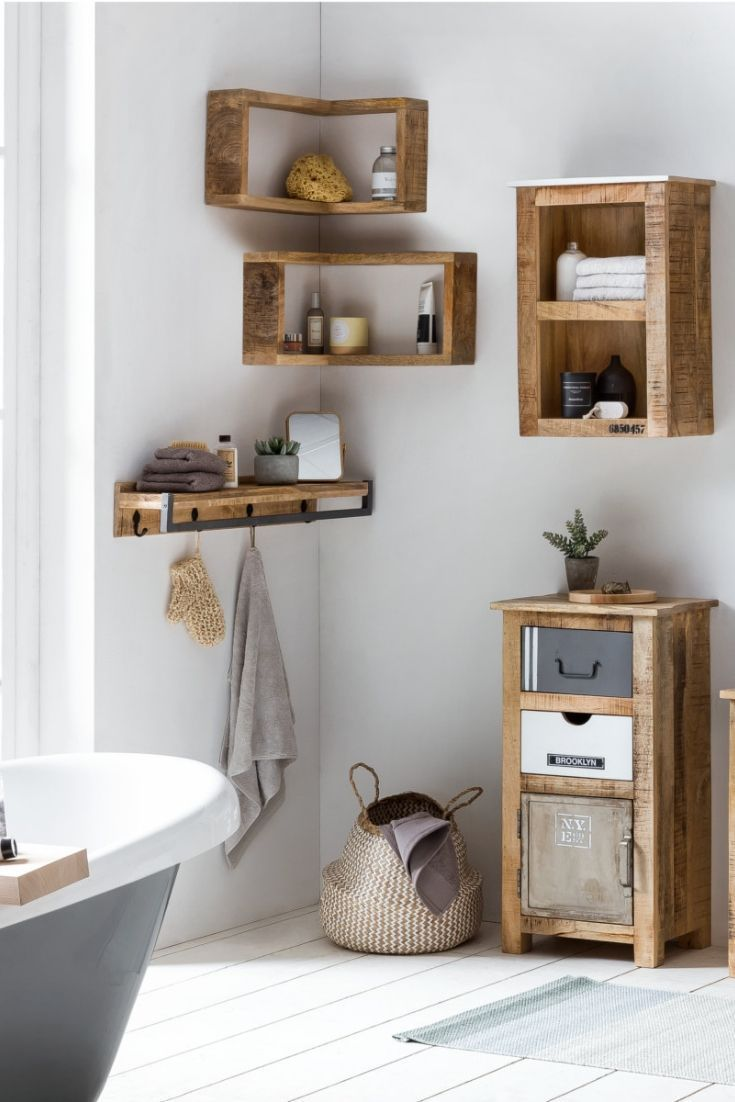 Badezimmer Hochschrank Schmal Holz Single Schlafzimmer In 2020 Badezimmer Regal Holz Badezimmer Regal Badezimmer Regal Schmal