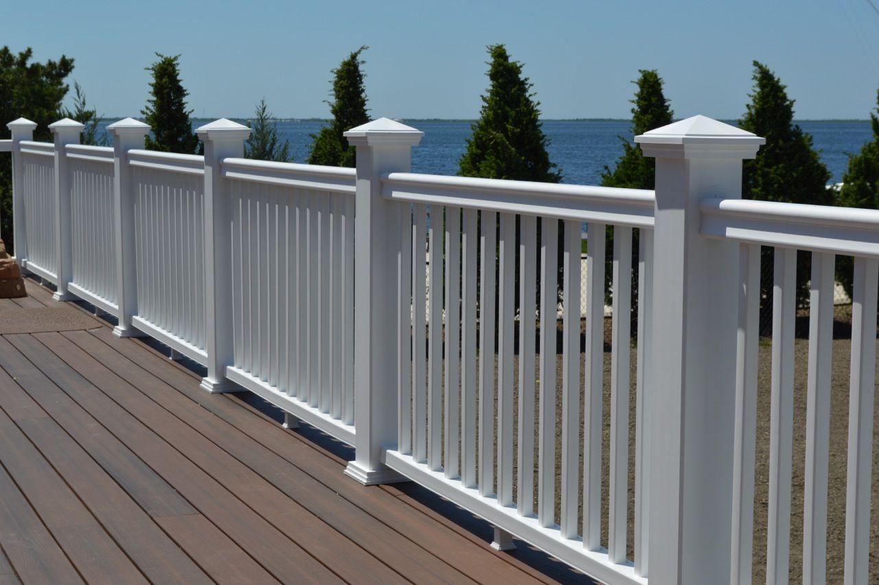 New Fiberon 'Symmetry' railing in matte white finish with