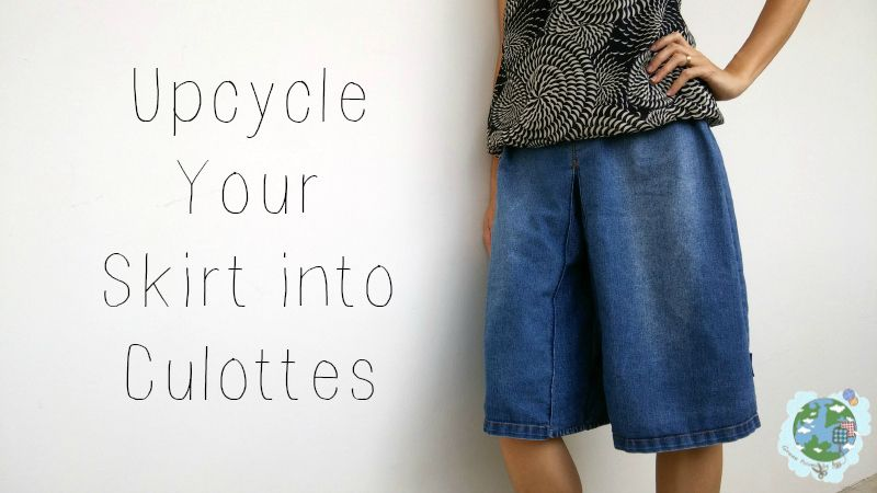 8bf4fbdae57 Upcycling+Your+Skirt+Into+Culottes ++•++Free+tutorial+with+pictures+on+how+to+make+shorts+in+5+steps