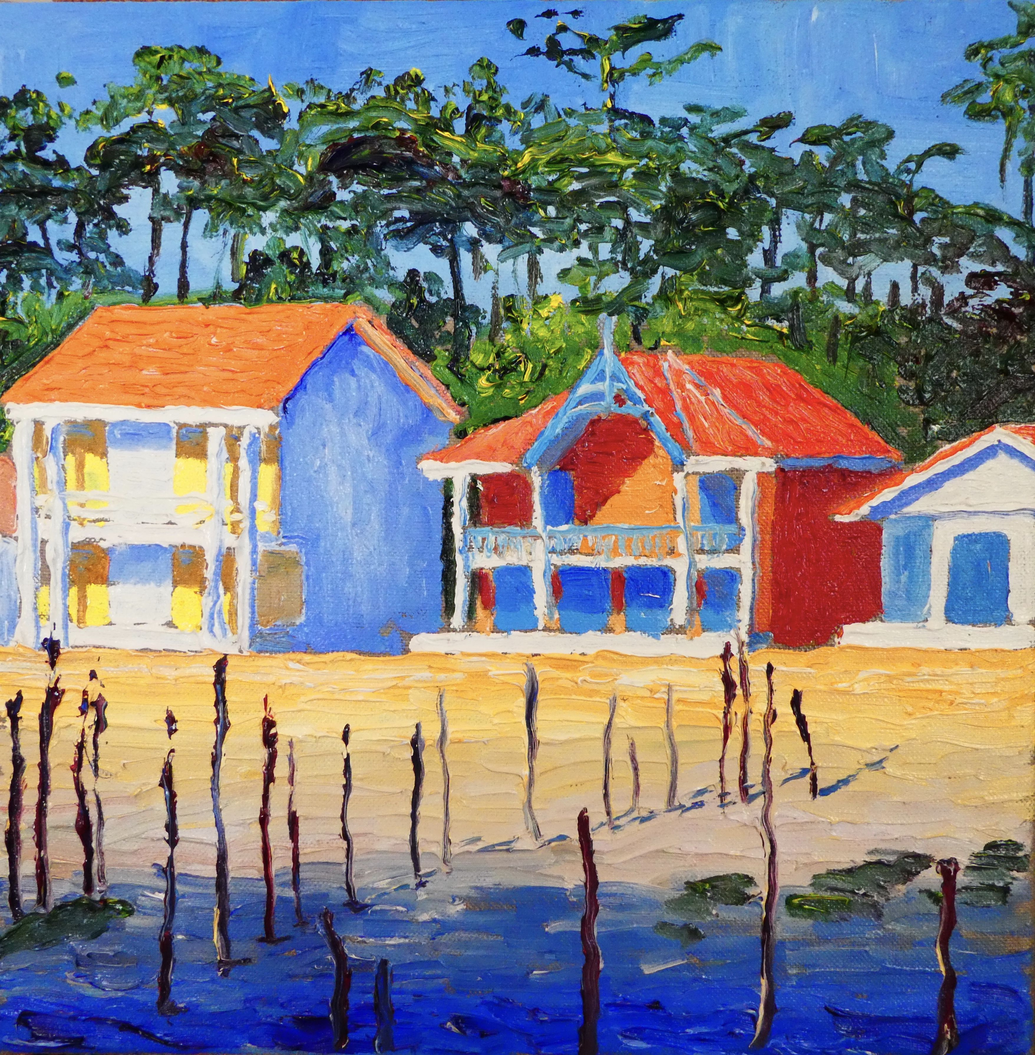 Thomas grotzky les cabanes ostr icoles du village de l for Toile bassin