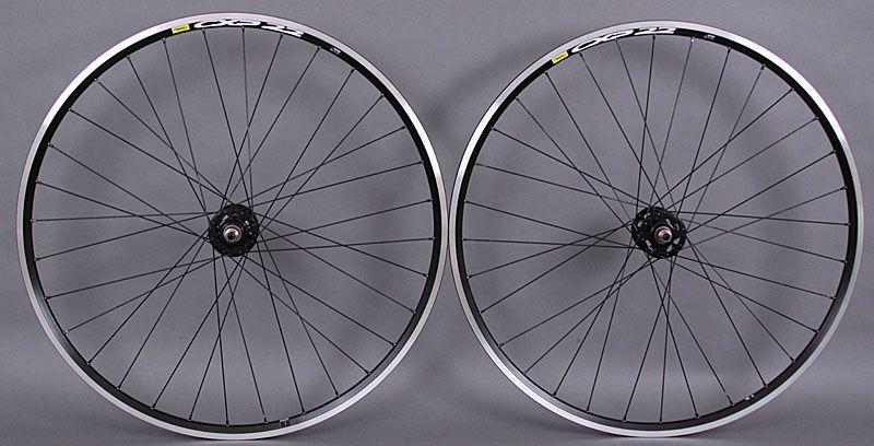 Mavic CXP22 Track Bike Fixed Gear SingleSpeed Wheels Wheelset Silver Formula Hub