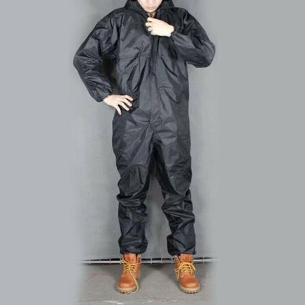 US Waterproof Mens Motorcycle Rain Suit Raincoat Overalls Work Jacket Coat Lot