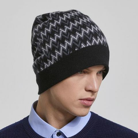 d5366c38aa2 Knit Hats · Man Hats · https   www.buyhathats.com black-gray-striped-