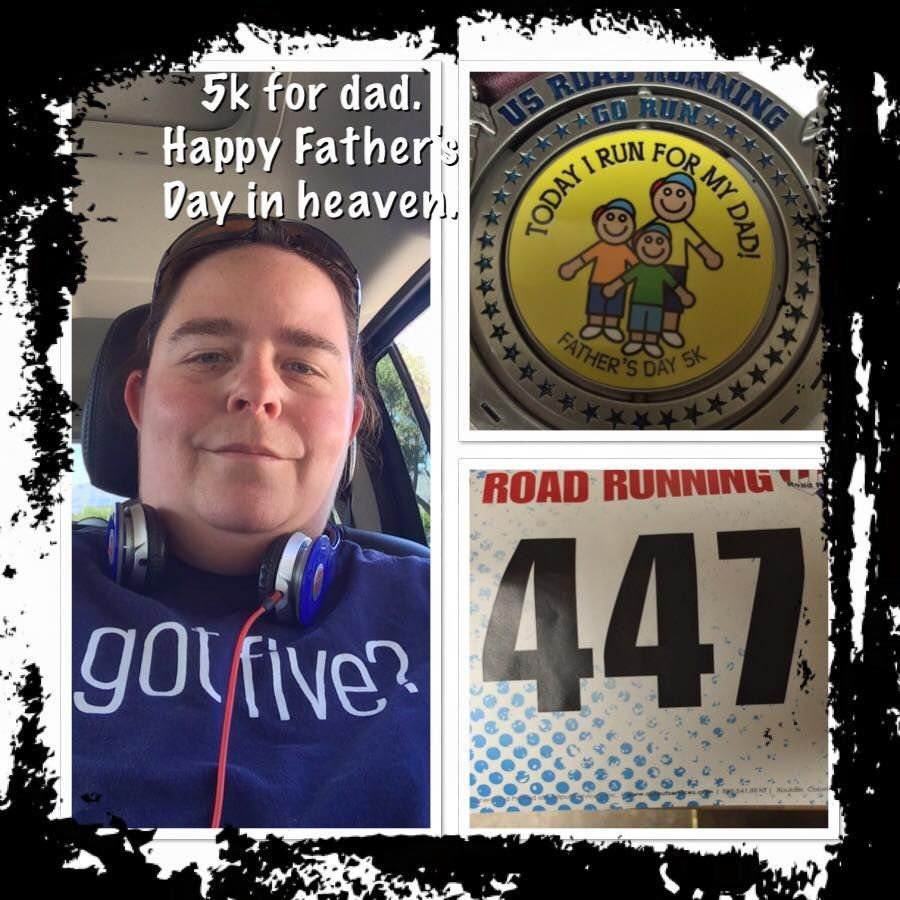 """Spotlight Runner - Tammy, """"My first 5k and for my dad too. Can't wait for the Labor Day one in honor of his birthday."""" http://usroadrunning.com"""