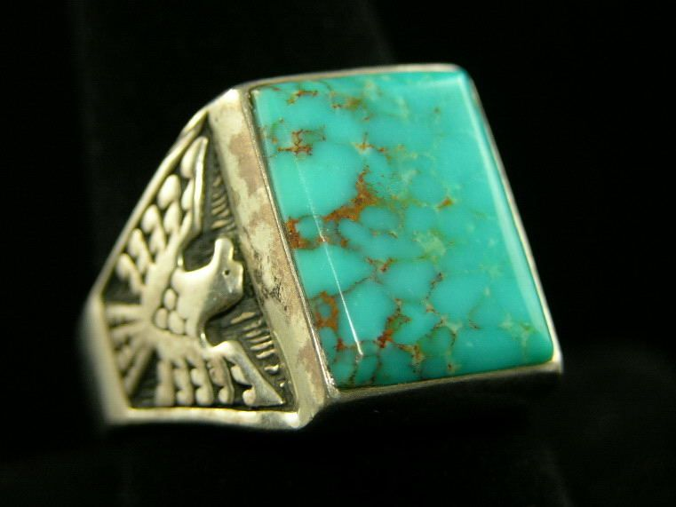 Turquoise thunderbird ring a vintage ring Turquoise is my