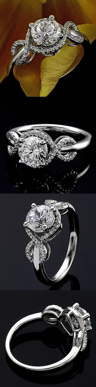 Diamond 164306: 1 Round Cut Diamond Solitaire Engagement Ring Vs2 D 14K White Gold Enhanced -> BUY IT NOW ONLY: $1275 on eBay!