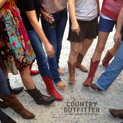 Pretty pretty boots at the @ARWomenBloggers @countryoutfittr party.