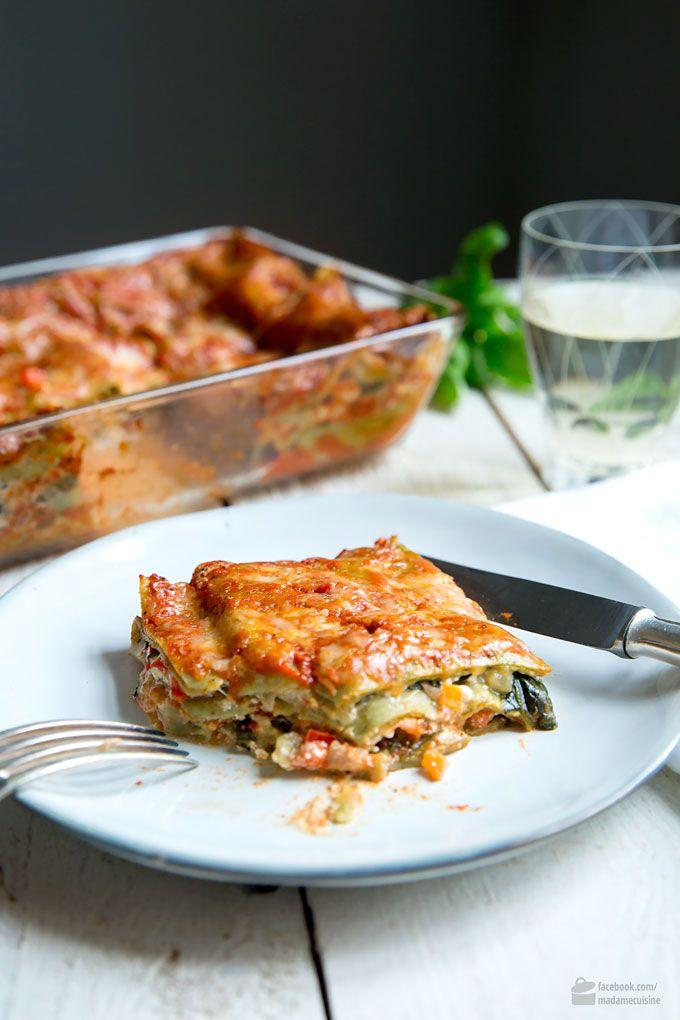 Gemüse-Lasagne mit Spinat: Amore Italia - Madame Cuisine #spinatlasagne